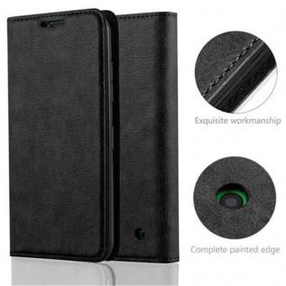 Cadorabo Hülle für Nokia Lumia 630 in NACHT SCHWARZ - Handyhülle mit Magnetverschluss, Standfunktion und Kartenfach - Case Cover Schutzhülle Etui Tasche Book Klapp Style - Vorschau 2