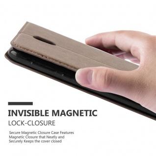 Cadorabo Hülle für Nokia 2 2017 in KAFFEE BRAUN - Handyhülle mit Magnetverschluss, Standfunktion und Kartenfach - Case Cover Schutzhülle Etui Tasche Book Klapp Style - Vorschau 5