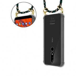 Cadorabo Handy Kette für Nokia 3.1 Plus in CAMOUFLAGE - Silikon Necklace Umhänge Hülle mit Gold Ringen, Kordel Band Schnur und abnehmbarem Etui ? Schutzhülle - Vorschau 5