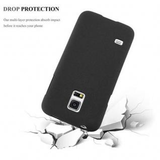 Cadorabo Hülle für Samsung Galaxy S5 MINI / S5 MINI DUOS in FROST SCHWARZ - Handyhülle aus flexiblem TPU Silikon - Silikonhülle Schutzhülle Ultra Slim Soft Back Cover Case Bumper - Vorschau 4