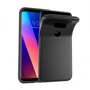 Cadorabo Hülle für LG V30 in SCHWARZ - Handyhülle aus flexiblem TPU Silikon - Silikonhülle Schutzhülle Ultra Slim Soft Back Cover Case Bumper