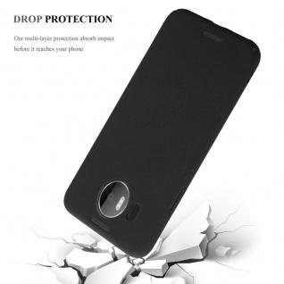 Cadorabo Hülle für Nokia Lumia 950 XL in FROSTY SCHWARZ - Hardcase Handyhülle aus Plastik gegen Kratzer und Stöße - Schutzhülle Bumper Ultra Slim Back Case Hard Cover - Vorschau 4