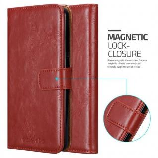 Cadorabo Hülle für HTC Desire 10 Lifestyle / Desire 825 in WEIN ROT - Handyhülle mit Magnetverschluss, Standfunktion und Kartenfach - Case Cover Schutzhülle Etui Tasche Book Klapp Style - Vorschau 2