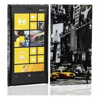 Cadorabo - Hard Cover für Nokia Lumia 800 - Case Cover Schutzhülle Bumper im Design: NEW YORK CAB
