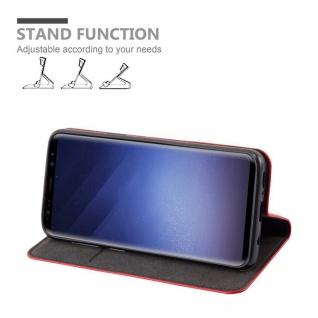 Cadorabo Hülle für Samsung Galaxy S9 in APFEL ROT Handyhülle mit Magnetverschluss, Standfunktion und Kartenfach Case Cover Schutzhülle Etui Tasche Book Klapp Style - Vorschau 3