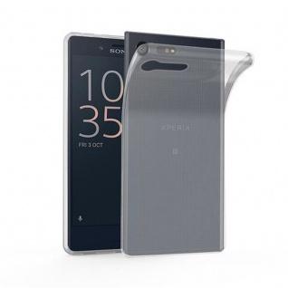 Cadorabo Hülle für Sony Xperia X Compact - Hülle in VOLL TRANSPARENT ? Handyhülle aus TPU Silikon im Ultra Slim 'AIR' Design - Ultra Slim Soft Backcover Case Bumper