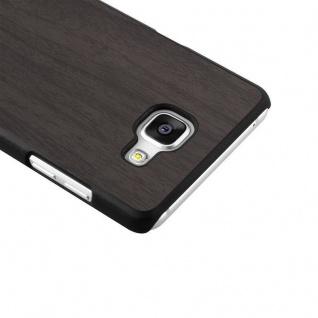 Cadorabo Hülle für Samsung Galaxy A5 2016 in WOODEN SCHWARZ - Handyhülle aus flexiblem TPU Silikon - Silikonhülle Schutzhülle Ultra Slim Soft Back Cover Case Bumper - Vorschau 4