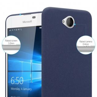 Cadorabo Hülle für Nokia Lumia 650 in FROSTY BLAU - Hardcase Handyhülle aus Plastik gegen Kratzer und Stöße - Schutzhülle Bumper Ultra Slim Back Case Hard Cover - Vorschau 3