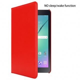 """Cadorabo Tablet Hülle für Samsung Galaxy Tab S2 (8, 0"""" Zoll) SM-T715N / T719N in MOHN ROT Book Style Schutzhülle OHNE Auto Wake Up mit Standfunktion und Gummiband Verschluss - Vorschau 2"""