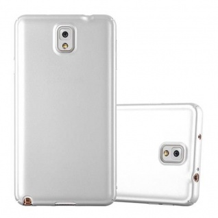 Cadorabo Hülle für Samsung Galaxy NOTE 3 in METALL SILBER - Hardcase Handyhülle aus Plastik gegen Kratzer und Stöße - Schutzhülle Bumper Ultra Slim Back Case Hard Cover