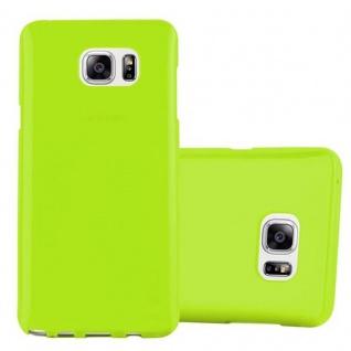 Cadorabo Hülle für Samsung Galaxy NOTE 5 in JELLY GRÜN ? Handyhülle aus flexiblem TPU Silikon ? Silikonhülle Schutzhülle Ultra Slim Soft Back Cover Case Bumper
