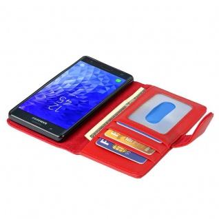 Cadorabo Hülle für Samsung Galaxy J7 2017 in INFERNO ROT ? Handyhülle mit Magnetverschluss und 3 Kartenfächern ? Case Cover Schutzhülle Etui Tasche Book Klapp Style - Vorschau 2