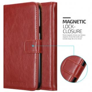 Cadorabo Hülle für LG X Power 2 in WEIN ROT - Handyhülle mit Magnetverschluss, Standfunktion und Kartenfach - Case Cover Schutzhülle Etui Tasche Book Klapp Style - Vorschau 2