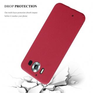 Cadorabo Hülle für Nokia Lumia 950 in FROSTY ROT - Hardcase Handyhülle aus Plastik gegen Kratzer und Stöße - Schutzhülle Bumper Ultra Slim Back Case Hard Cover - Vorschau 4