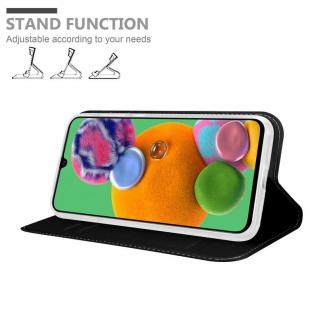 Cadorabo Hülle für Samsung Galaxy A90 5G in CLASSY SCHWARZ - Handyhülle mit Magnetverschluss, Standfunktion und Kartenfach - Case Cover Schutzhülle Etui Tasche Book Klapp Style - Vorschau 2