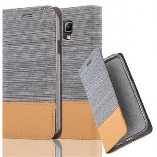 Cadorabo Hülle für Samsung Galaxy S4 ACTIVE in HELL GRAU BRAUN - Handyhülle mit Magnetverschluss, Standfunktion und Kartenfach - Case Cover Schutzhülle Etui Tasche Book Klapp Style