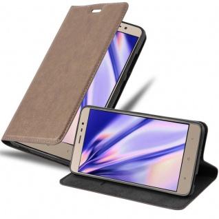 Cadorabo Hülle für Xiaomi RedMi Note 3 in KAFFEE BRAUN - Handyhülle mit Magnetverschluss, Standfunktion und Kartenfach - Case Cover Schutzhülle Etui Tasche Book Klapp Style