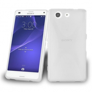 Cadorabo Hülle für Sony Xperia Z3 PLUS MINI in HALB TRANSPARENT ? Handyhülle aus flexiblem TPU Silikon ? Silikonhülle Schutzhülle Ultra Slim Soft Back Cover Case Bumper