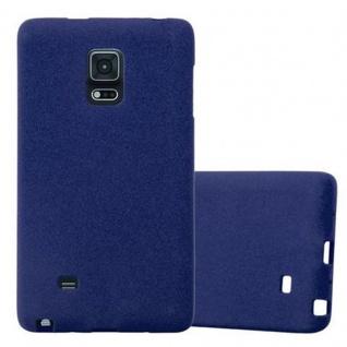 Cadorabo Hülle für Samsung Galaxy NOTE EDGE in FROST DUNKEL BLAU - Handyhülle aus flexiblem TPU Silikon - Silikonhülle Schutzhülle Ultra Slim Soft Back Cover Case Bumper