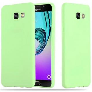 Cadorabo Hülle für Samsung Galaxy A5 2016 in CANDY PASTELL GRÜN - Handyhülle aus flexiblem TPU Silikon - Silikonhülle Schutzhülle Ultra Slim Soft Back Cover Case Bumper