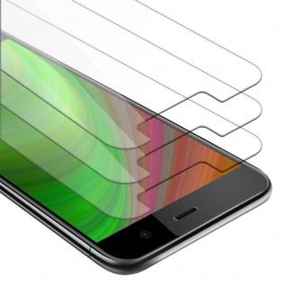 Cadorabo 3x Panzer Folie für HTC U PLAY - Schutzfolie in KRISTALL KLAR - 3er Pack Gehärtetes (Tempered) Display-Schutzglas in 9H Härte mit 3D Touch Kompatibilität