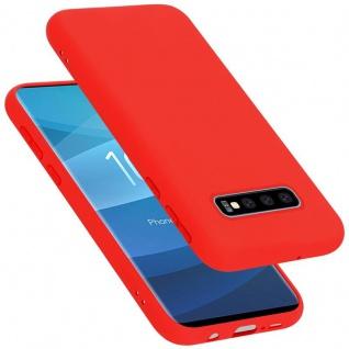 Cadorabo Hülle für Samsung Galaxy S10 PLUS in LIQUID ROT Handyhülle aus flexiblem TPU Silikon Silikonhülle Schutzhülle Ultra Slim Soft Back Cover Case Bumper