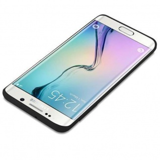 Cadorabo Hülle für Samsung Galaxy S6 EDGE PLUS in CANDY SCHWARZ - Handyhülle aus flexiblem TPU Silikon - Silikonhülle Schutzhülle Ultra Slim Soft Back Cover Case Bumper - Vorschau 3