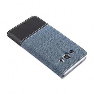 Cadorabo Hülle für Samsung Galaxy J5 2016 in DUNKEL BLAU SCHWARZ - Handyhülle mit Magnetverschluss, Standfunktion und Kartenfach - Case Cover Schutzhülle Etui Tasche Book Klapp Style - Vorschau 4