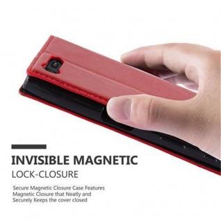 Cadorabo Hülle für Sony Xperia X Compact in APFEL ROT Handyhülle mit Magnetverschluss, Standfunktion und Kartenfach Case Cover Schutzhülle Etui Tasche Book Klapp Style - Vorschau 5