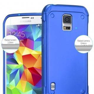 Cadorabo Hülle für Samsung Galaxy S5 Active in METALLIC BLAU - Handyhülle aus flexiblem TPU Silikon - Silikonhülle Schutzhülle Ultra Slim Soft Back Cover Case Bumper - Vorschau 4