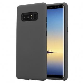 Cadorabo Hülle für Samsung Galaxy NOTE 8 in QUARZ GRAU Hybrid Handyhülle mit TPU Silikon Innenseite und 2teiliger Kunststoff Außenseite Schutzhülle Hybrid Hardcase Back Case