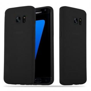Cadorabo Hülle für Samsung Galaxy S7 EDGE in CANDY SCHWARZ - Handyhülle aus flexiblem TPU Silikon - Silikonhülle Schutzhülle Ultra Slim Soft Back Cover Case Bumper