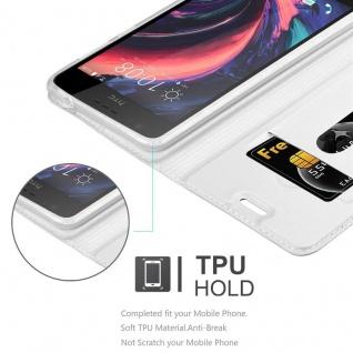 Cadorabo Hülle für HTC Desire 10 Lifestyle / Desire 825 in CLASSY SILBER - Handyhülle mit Magnetverschluss, Standfunktion und Kartenfach - Case Cover Schutzhülle Etui Tasche Book Klapp Style - Vorschau 2