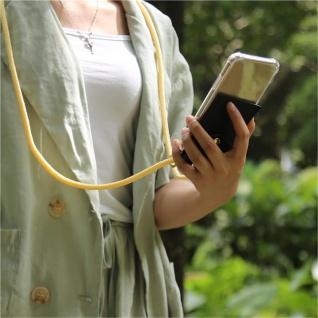 Cadorabo Handy Kette für HTC Desire 10 PRO in CREME BEIGE - Silikon Necklace Umhänge Hülle mit Gold Ringen, Kordel Band Schnur und abnehmbarem Etui ? Schutzhülle - Vorschau 3