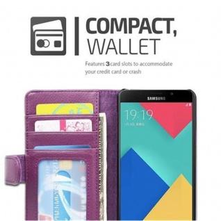 Cadorabo Hülle für Samsung Galaxy A5 2016 in BORDEAUX LILA ? Handyhülle mit Magnetverschluss und 3 Kartenfächern ? Case Cover Schutzhülle Etui Tasche Book Klapp Style - Vorschau 5
