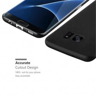 Cadorabo Hülle für Samsung Galaxy S7 EDGE in METALL SCHWARZ - Hardcase Handyhülle aus Plastik gegen Kratzer und Stöße - Schutzhülle Bumper Ultra Slim Back Case Hard Cover - Vorschau 3