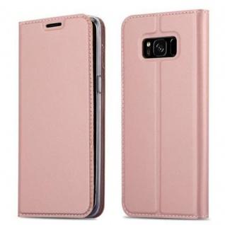 Cadorabo Hülle für Samsung Galaxy S8 PLUS in CLASSY ROSÉ GOLD - Handyhülle mit Magnetverschluss, Standfunktion und Kartenfach - Case Cover Schutzhülle Etui Tasche Book Klapp Style