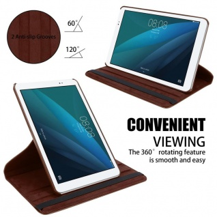 """Cadorabo Tablet Hülle für Huawei MediaPad T1 10 (10, 0"""" Zoll) in PILZ BRAUN Book Style Schutzhülle OHNE Auto Wake Up mit Standfunktion und Gummiband Verschluss - Vorschau 5"""