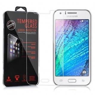 Cadorabo Panzerglas für Samsung Galaxy J1 - Schutzfolie in KRISTALL KLAR ? Gehärtetes (Tempered) Display-Schutzglas in 9H Härte mit 3D Touch Kompatibilität