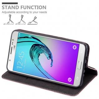 Cadorabo Hülle für Samsung Galaxy J7 2016 in GOLD SCHWARZ ? Handyhülle mit Magnetverschluss, Standfunktion und Kartenfach ? Case Cover Schutzhülle Etui Tasche Book Klapp Style - Vorschau 4