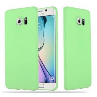 Cadorabo Hülle für Samsung Galaxy S6 EDGE PLUS - Hülle in CANDY PASTELL GRÜN ? Handyhülle aus TPU Silikon im Candy Design - Ultra Slim Soft Backcover Case Bumper