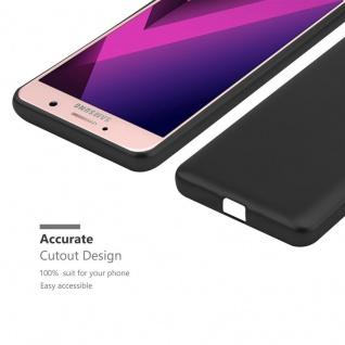 Cadorabo Hülle für Samsung Galaxy A7 2017 in METALLIC SCHWARZ - Handyhülle aus flexiblem TPU Silikon - Silikonhülle Schutzhülle Ultra Slim Soft Back Cover Case Bumper - Vorschau 5