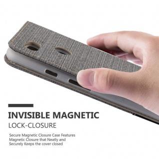 Cadorabo Hülle für Google Pixel 2 XL in GRAU SCHWARZ - Handyhülle mit Magnetverschluss, Standfunktion und Kartenfach - Case Cover Schutzhülle Etui Tasche Book Klapp Style - Vorschau 5
