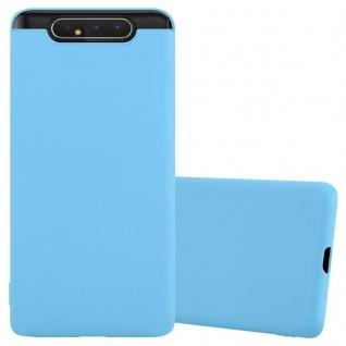 Cadorabo Hülle für Samsung Galaxy A80 / A90 in CANDY BLAU Handyhülle aus flexiblem TPU Silikon Silikonhülle Schutzhülle Ultra Slim Soft Back Cover Case Bumper