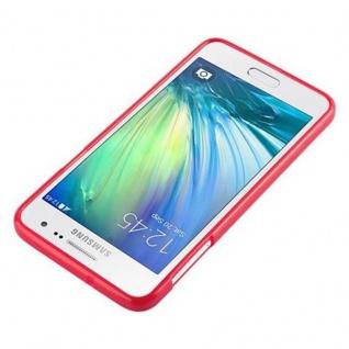 Cadorabo Hülle für Samsung Galaxy A3 2015 in JELLY ROT - Handyhülle aus flexiblem TPU Silikon - Silikonhülle Schutzhülle Ultra Slim Soft Back Cover Case Bumper - Vorschau 4