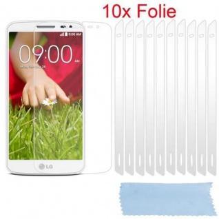Cadorabo Displayschutzfolien für LG G2 MINI - Schutzfolien in HIGH CLEAR ? 10 Stück hochtransparenter Schutzfolien gegen Staub, Schmutz und Kratzer