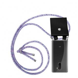 Cadorabo Handy Kette für Xiaomi Pocophone F1 in UNICORN - Silikon Necklace Umhänge Hülle mit Silber Ringen, Kordel Band Schnur und abnehmbarem Etui - Schutzhülle