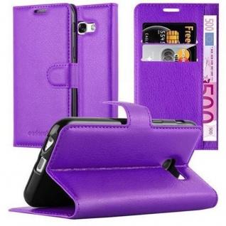 Cadorabo Hülle für Samsung Galaxy A5 2017 in MANGAN VIOLETT - Handyhülle mit Magnetverschluss, Standfunktion und Kartenfach - Case Cover Schutzhülle Etui Tasche Book Klapp Style