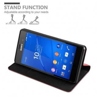 Cadorabo Hülle für Sony Xperia Z3 in APFEL ROT Handyhülle mit Magnetverschluss, Standfunktion und Kartenfach Case Cover Schutzhülle Etui Tasche Book Klapp Style - Vorschau 4