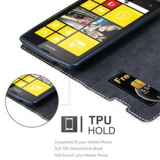 Cadorabo Hülle für Nokia Lumia 520 in ROSÉ GOLD SCHWARZ ? Handyhülle mit Magnetverschluss, Standfunktion und Kartenfach ? Case Cover Schutzhülle Etui Tasche Book Klapp Style - Vorschau 2